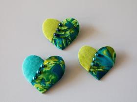 Hjerte broche patchwork