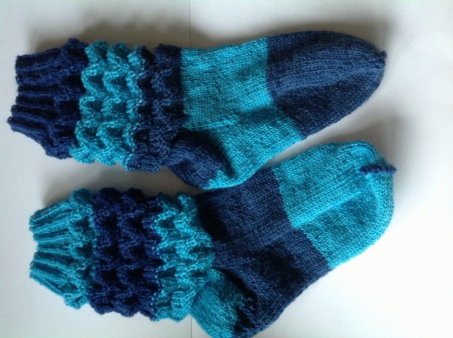 strikke sokker mønster