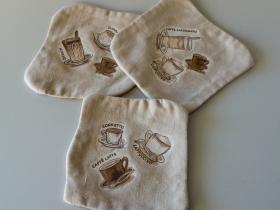 Kaffebrikker med decoupage