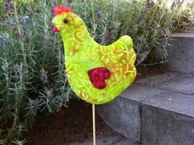 høne skabelon patchwork