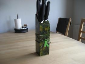Knivblok - hjemmelavet